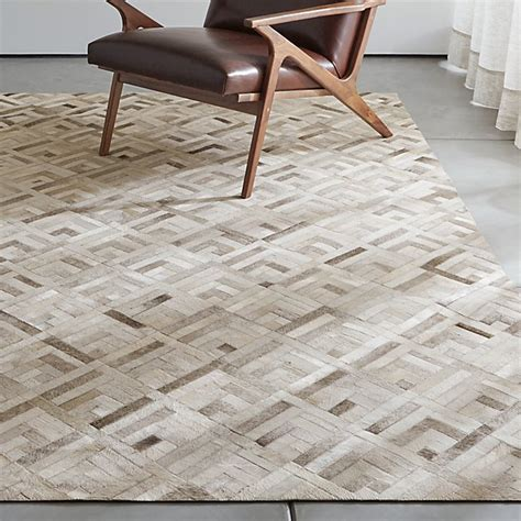 Grey Cowhide Rug by Dez Grey Cowhide Rug Crate And Barrel