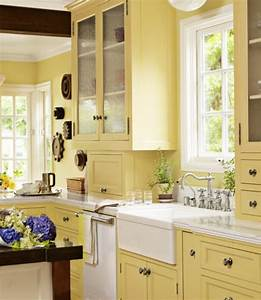 kitchen cabinet paint colors and how they affect your mood With kitchen colors with white cabinets with yellow metal wall art