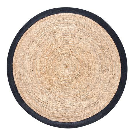 tapis rond maison du monde tapis rond tress 233 en jute contour noir d180 maisons du