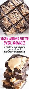 Vegan Almond Butter Swirl Brownies Beaming Banana