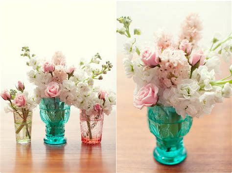 Antique Coloured Glass Vases by Inspired By Collecting Colored Glass Elements For Weddings