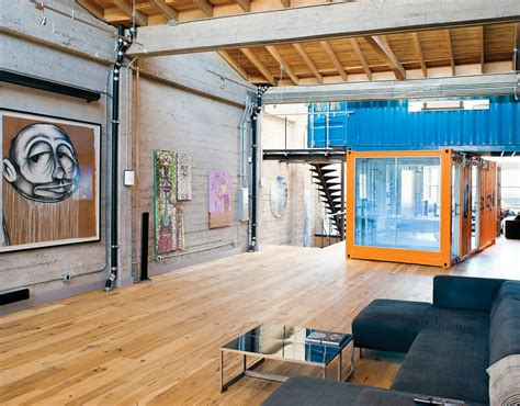 interior of shipping container homes shipping container homes shipping containers in loft apartment san francisco california