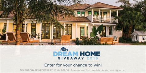 hgtv dream home giveaway  sweepstakes thrifty momma