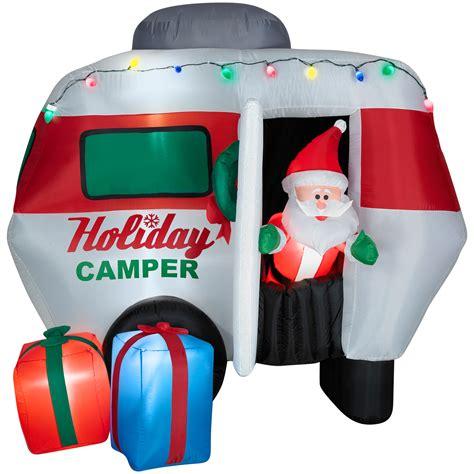 santa   holiday camper airblown christmas decoration