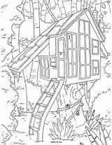 Coloring Tree Printable Adult Popular sketch template