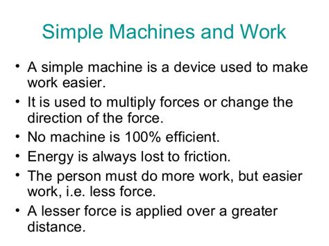 physics 504 chapter 15 simple machines
