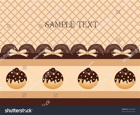 chocolate cupcake background stock vector