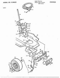 Steering Diagram  U0026 Parts List For Model 33910 Murray