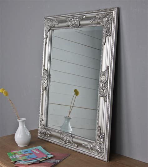 spiegel barock silber spiegel 62x52 cm wandspiegel barock silber holz landhaus holzrahmen badspiegel ebay