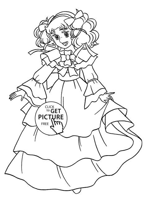nice candy candy anime coloring pages  kids printable
