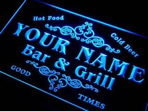 Name Personalized Custom Family Bar & Grill Beer Home Gift