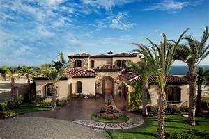 Luxury homes designs with dark cream color ideas with red ...