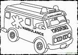 Coloring Ambulance Pages Popular sketch template