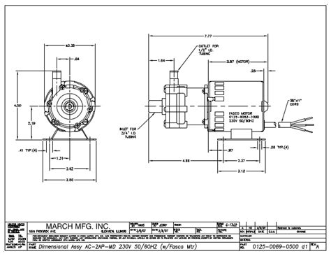 Centrifugal Pumps Data From March Pump Dimensional Drawing