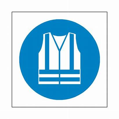 Hi Viz Wear Sign Symbol Mandatory Safety