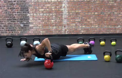 kettlebell push exercises strong body workouts toned