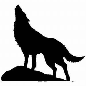 Amazon com: Newclew HUGE HOWLING WOLF silhouette removable