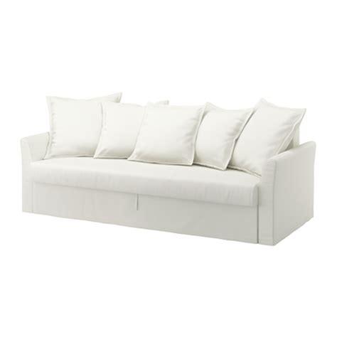 ikea holmsund sofa bed holmsund three seat sofa bed ransta white ikea