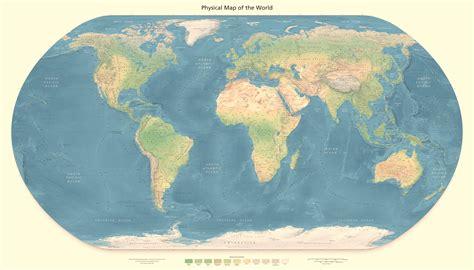 large physical map   world world mapsland maps