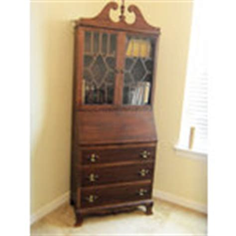 antique secretary desk hutch with drawers and shelves 05