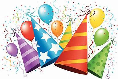 Hat Birthday Clip Celebration Party Vector Illustrations