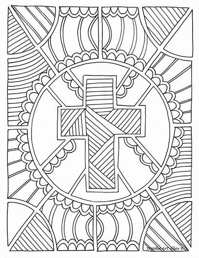 Doodle Alley Coloring Religious Pages Christianity Religion