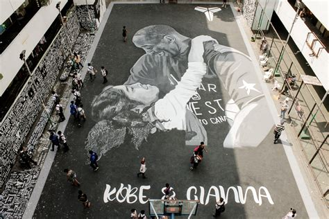 tribute mural  honor kobe gianna bryant  tenement