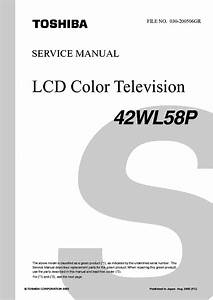 Toshiba 42wl58p Lcd Tv Sm Service Manual Download