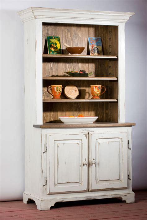 buffet cuisine en pin buffet huche ouverte en bois de pin caseine blanc antique
