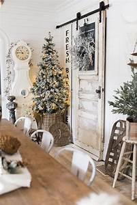 Rustic, Glam, Farmhouse, Christmas, Dining, Room