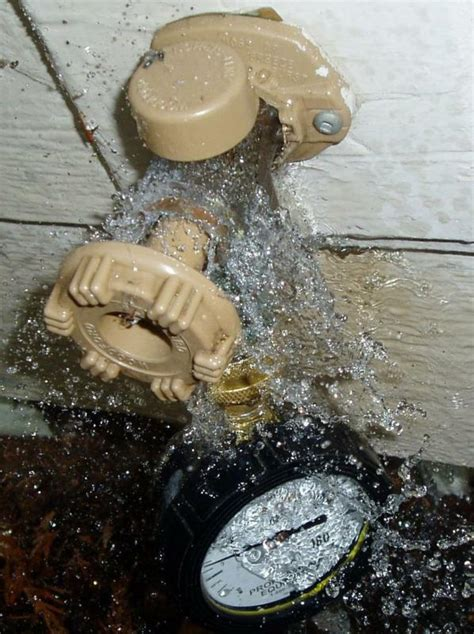 Leaking Outdoor Faucet Vacuum Breaker by Bellingham Home Inspector King Of The House My