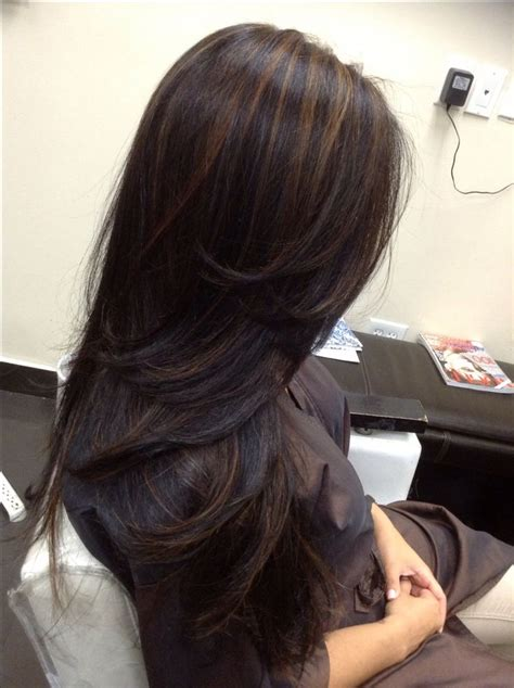 Black Color For Hair by Best 25 Highlights On Black Hair Ideas On