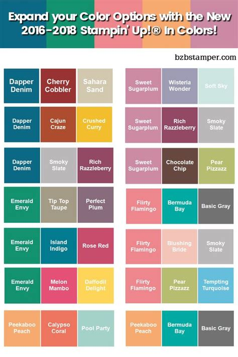 Color Combinations, Charts And In Color On Pinterest
