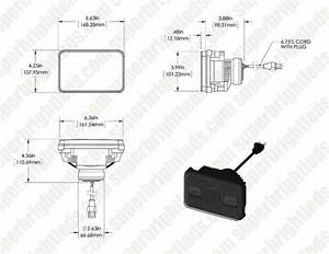 Rectangular H4656 Led Projector Headlights