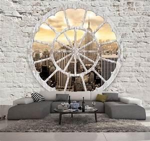 Papier Peint Trompe L Oeil Brique : papier peint intisse trompe l oeil new york photo murale ~ Premium-room.com Idées de Décoration