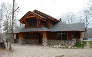 arts and crafts style home plans pickerel lake craftsman style great northern woodworks