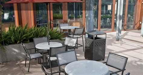 caf 233 outdoor furniture cafe tables and chairs tropitone