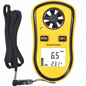 Anem U00f4metro Digital Medidor De Velocidade Do Vento
