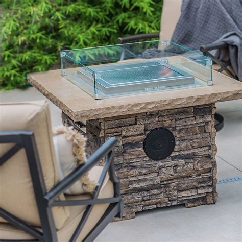 Vevor fire pit wind guard tempered glass flame guard 41x41x8 in 1/4. Dancing Fire Pit + Wind Guard (The Montana) - Blazing ...
