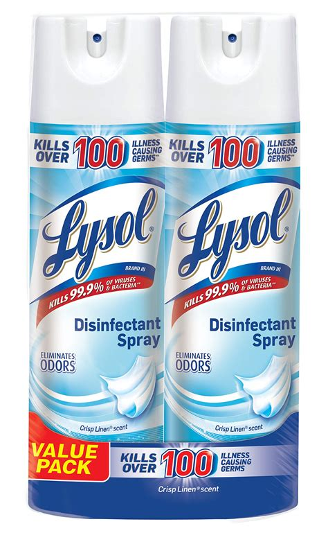 Amazon.com: Lysol Disinfectant Spray To Go, Crisp Linen, 1