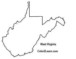West Virginia State Map Outline