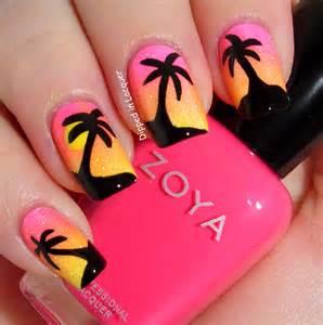 Pics photos palm tree nail art designs