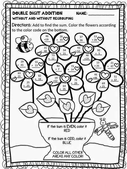 Addition Subtraction Coloring Pages Math Facts Doubles