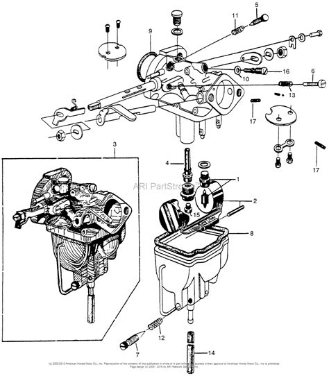 Honda Pressure Washer Carburetor Diagram
