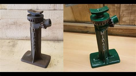 1930s Vintage Rusty British Screw Type Bottle Jack