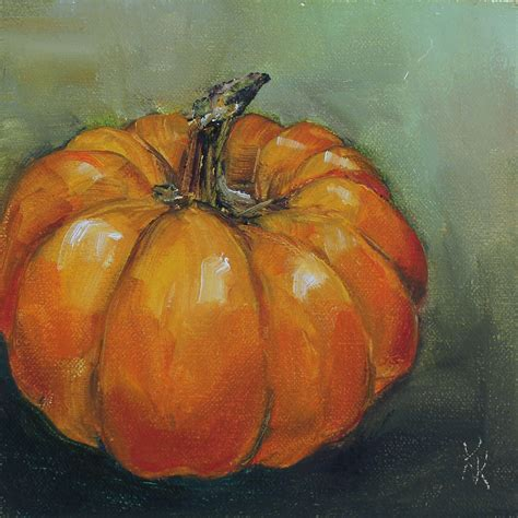 painting a pumpkin texas contemporary fine artist kristine kainer september 2012