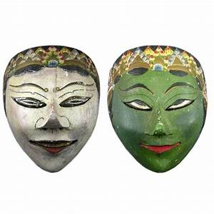 Pair Of Antique Asian Masks at 1stdibs
