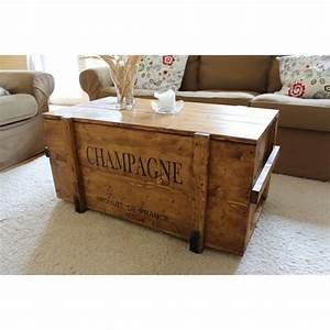 Table Basse D Appoint : table basse table d 39 appoint vintage style shabby chic caisse en bois coffre en bois massif ~ Teatrodelosmanantiales.com Idées de Décoration