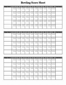 bowling score sheet sample free download With bowling recap sheet template