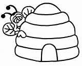 Beehive Bee Hive Coloring Behind Template Printable Clipart Honeycomb Clip Drawing Peeking Honey Getcolorings Clipartbest Getdrawings Eyeglasses sketch template